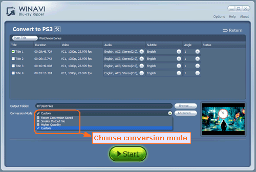 Rip Bluray to PS3 - How to rip Bluray to PS3 with WinAVI Blu-ray Ripper
