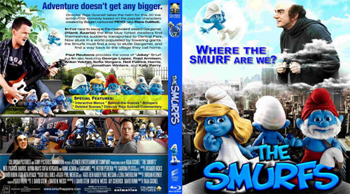 The Smurfs bluray disc cover- screenshot