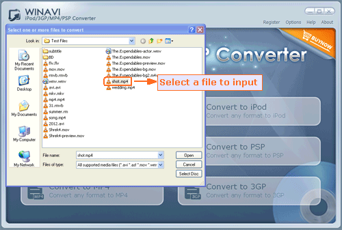 WinAVI iPod/3GP/MP4/PSP Converter is an all in one video conversion tool wh