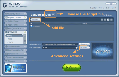 input file and add with subtitle - screenshot