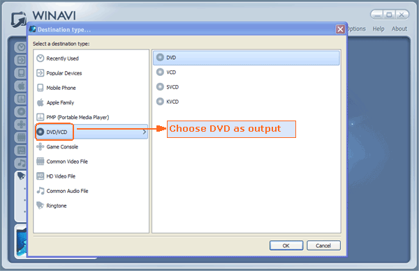 add video files to convert to dvd