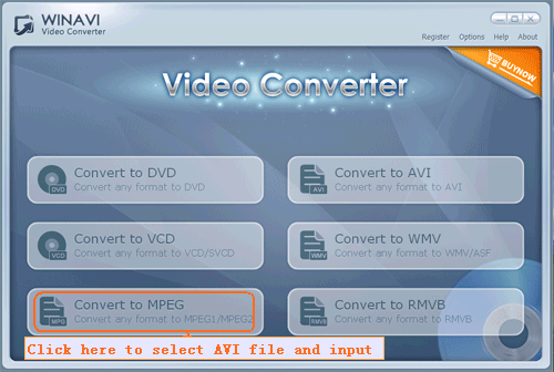 choose your selected avi file to load in program - screenshot