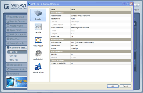 MP4 Converter to MP4 - convert to mp4 with WinAVI All In One
