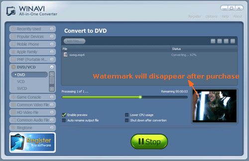free software to convert mp4 to dvd format