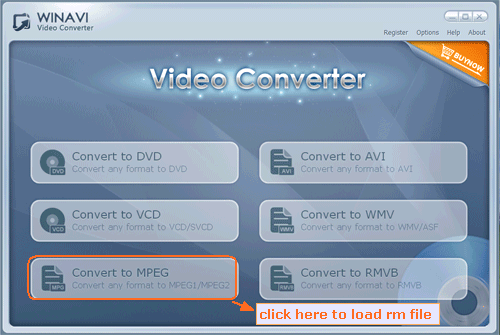 rm converter interface - screenshot