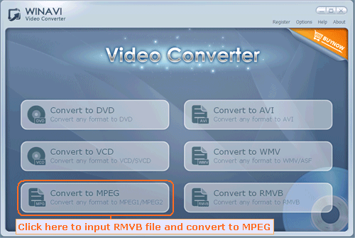 rmvb converter interface - screenshot