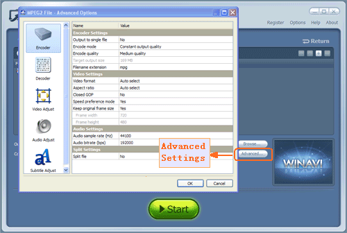 wmv-converter-advanced-settings - screenshot