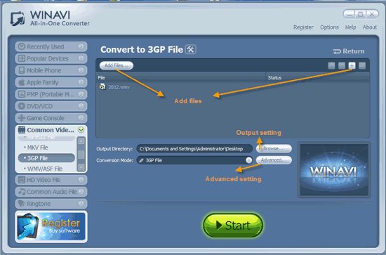all 3gp converter software