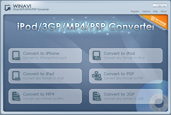 Convert any videos to MP4/3GP/iPad/iPod/iPhone/PSP